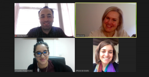 Project FINE2WORK international team online meeting